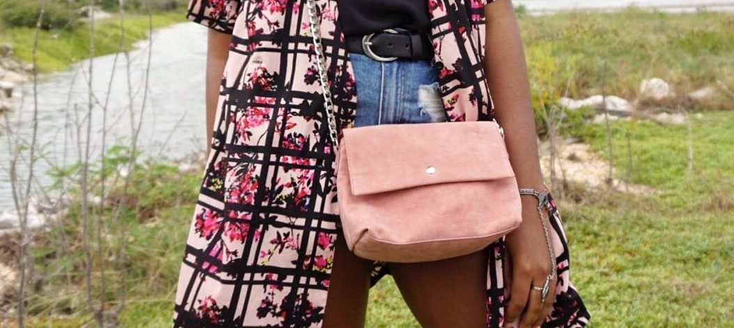 Pink cross body